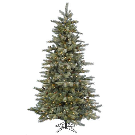 White Frosted Tree - 7 5 foot frosted sartell tree warm white led