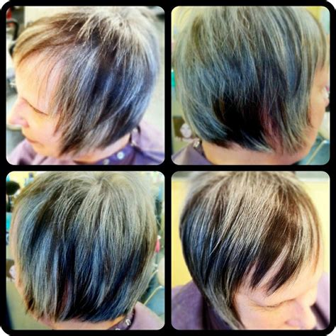 natural grey with high and lowlights hairbykialee 17 best images about i do hair on pinterest wavy bob