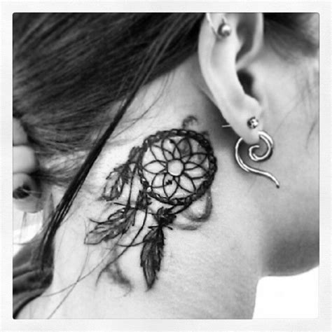 small dreamcatcher tattoo behind ear dreamcatcher ear pictures and images