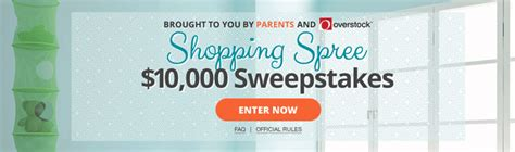 Parents Com Sweepstakes - parents com overstock parents 10 000 shopping spree sweepstakes