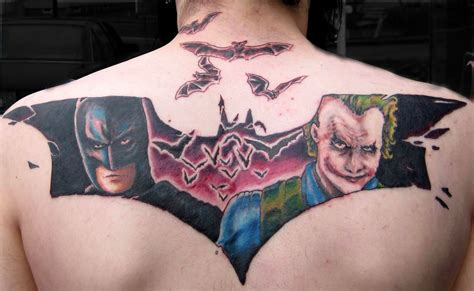 joker back tattoo 16 best batman designs images and ideas
