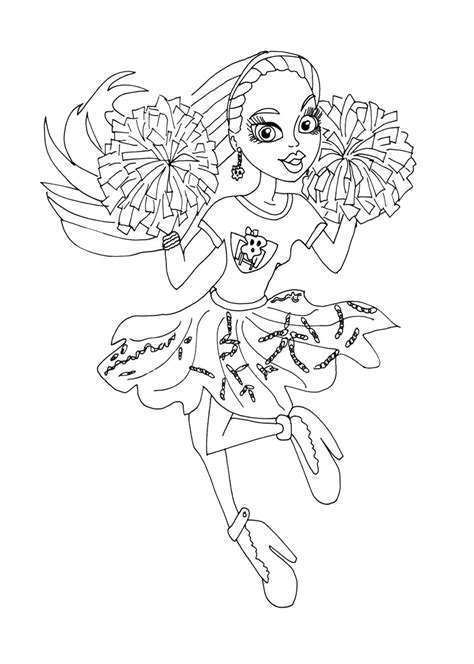 cheer megaphone coloring pages  getcoloringscom