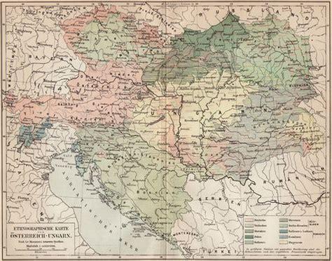 austria hungary map 1900 ethnographic map of austria hungary 1906