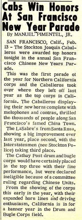 new year parade san francisco history historical drum corps publications cabs win honors at san