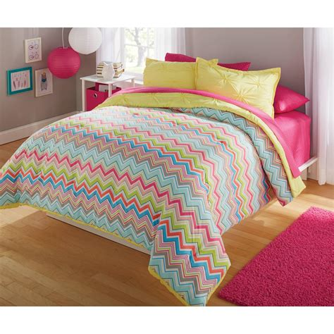chevron comforter sets twin size bed comforters walmart com your zone bedding
