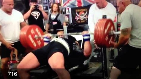 max bench record biggest bench ever eric spoto mark bell dan green youtube