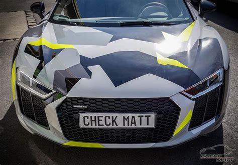 Auto Tuning Dortmund by Camodesign Folierung Am Audi R8 Spyder Check Matt