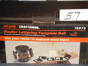 57 craftsman 92573 router lettering template lot 57