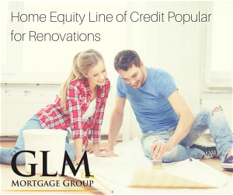 home equity line of credit popular for renovations glm
