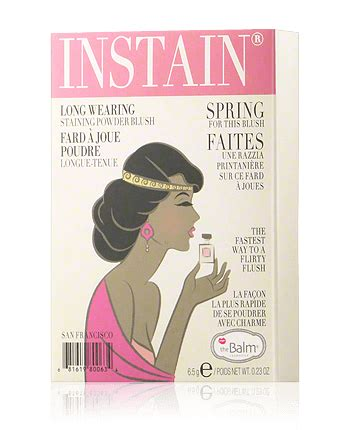 Thebalm Instain Houndstooth 6 5g thebalm instain wearing staining powder blush lace