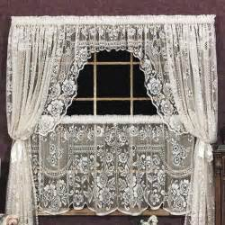 Lace Swag Curtains Victorian Rose Swag Pair Heritage Lace 2860es Pr 2860ws