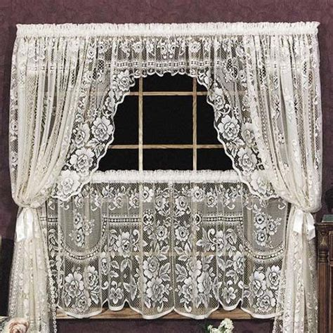 victorian swag curtains victorian rose swag pair heritage lace 2860es pr 2860ws