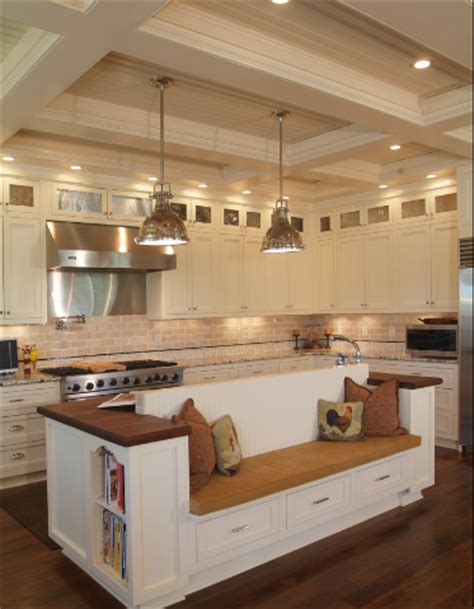 kitchen island with bench seating quotes
