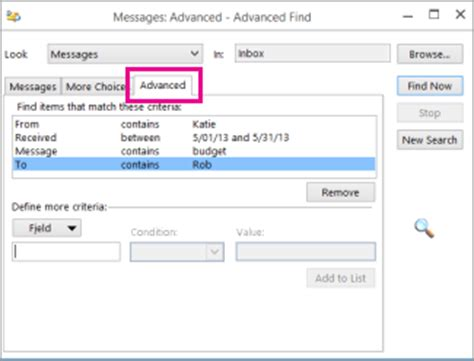 Unable To Search Emails In Outlook 2010 Office 365 Outlook 2013 Find A Message With Instant Search