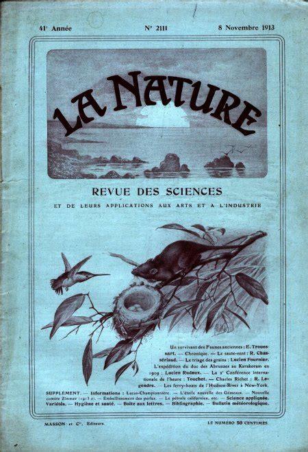 Charles Jourdan Cj1004 2112 P la nature 233 e 1913 gloubik sciences