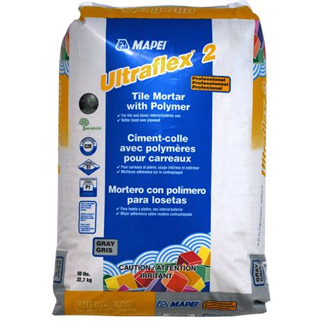 shop mapei gray powder polymer modified thinset mortar at lowes com