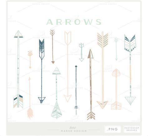 arrow pattern brush photoshop 26 arrow brushes download for photoshop gimp design