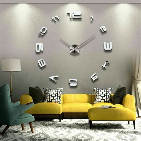 wallpaper for home walls in pakistan price modern diy large 3d mirror effect wall clock price in