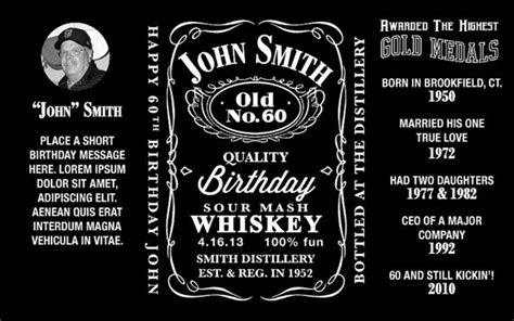 design jack daniels label jack daniels inspired mini bottle labels personalized