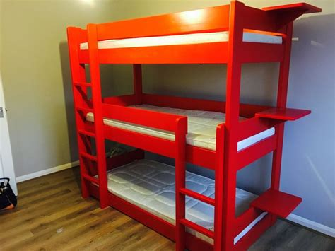 3 Tier Bunk Bed Best 25 3 Tier Bunk Beds Ideas On Three Bed Bunk Beds Built In Bunks And Diy Bunkbeds