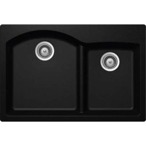 Elkay Elkay By Schock Drop In Undermount Quartz Composite 33 In Double Basin Kitchen Sink In Elkay Schock Sink Template
