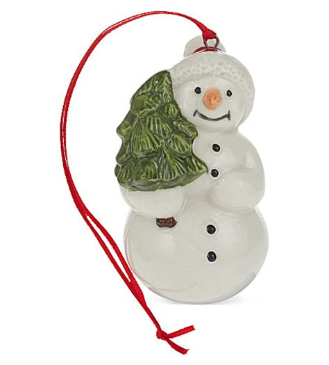 villeroy boch set of four christmas snowman ornaments