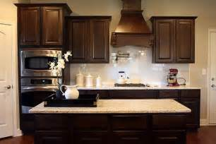 Kitchen Backsplash With Dark Cabinets White Subway Tile Backsplash With Dark Cabinets Images