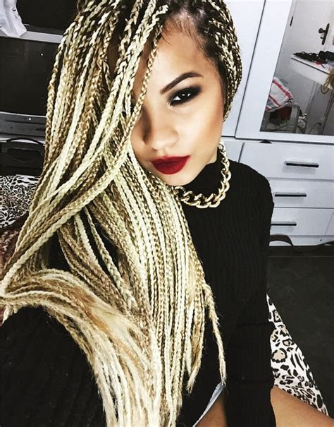 blonde braids in hair black women 65 box braids hairstyles for black women box braids