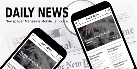 newspaper theme mobile daily news newspaper magazine mobile template by