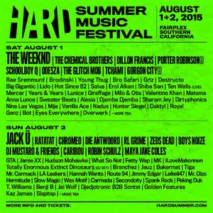 when does cabi summer line up 2015 hard summer announces 2015 lineup the weeknd jack 220 the