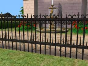 mod the sims three wrought iron fences