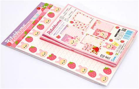 Rillakuma Japan Letter Set rilakkuma letter set strawberry from japan letter