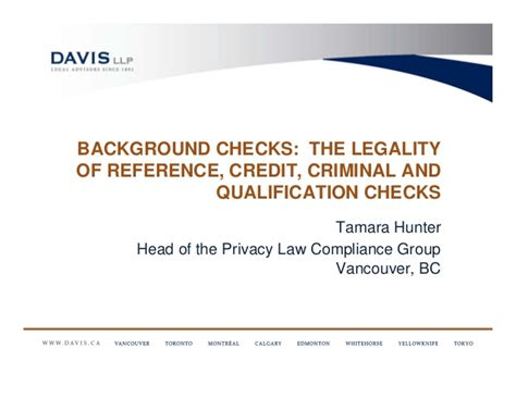 What Shows On A Criminal Record Check Canada Background Checks The Legality Of Reference Credit Criminal And Qu