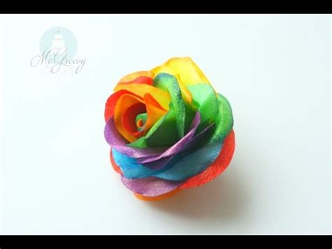 How To Make A Paper Rainbow - how to make a wafer paper rainbow