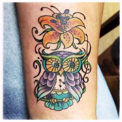 holy city tattoo amyl8x got a new time keeping owl done by
