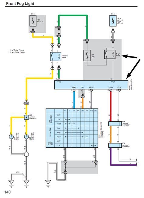 toyota rav4 fog light wiring diagram free