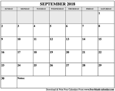 Galerry printable blank calendar for 2018