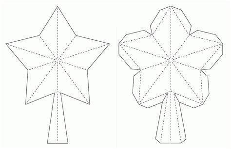 Crafting Creatures 3d Paper Star For Xmas Tree Topper Tree Topper Coloring Page