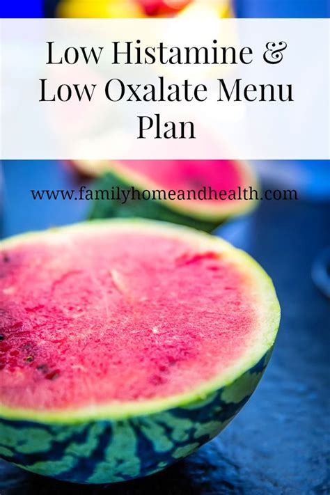 Oxalate Detox Symptoms by A Menu Plan For A Low Histamine Low Oxalate Liver