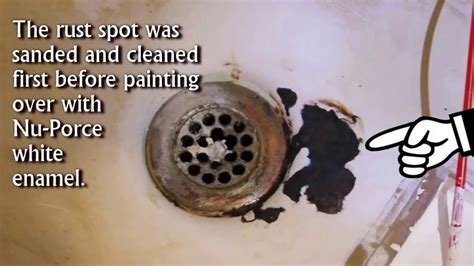 fix chipped bathtub rust spot  ceramic enamel youtube