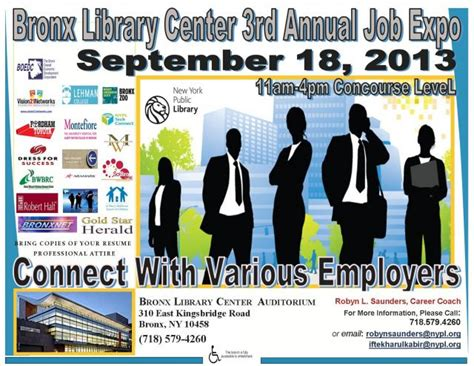 bronx library center s 3rd annual job expo september 18