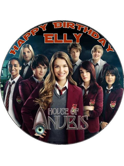 house of cing 7 5 house of anubis personalised edible icing or wafer paper cake top topper
