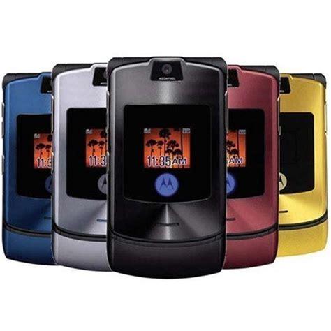 Motorola Razr V3i Brand New Refurbished motorola razr v3i unlocked cell phone used black chrome