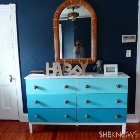 shades of blue ombre chest of drawers dresser changing nautical inspired diy dresser