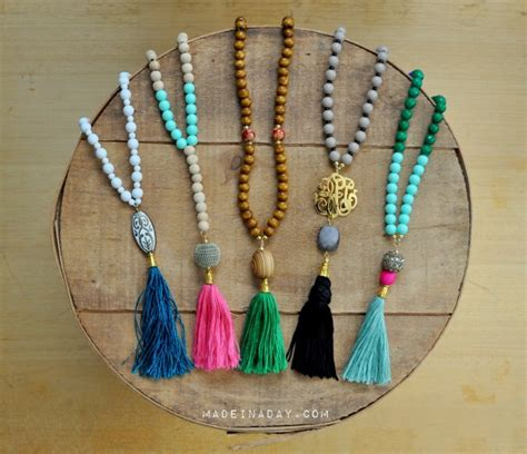 how to bead a necklace diy beaded tassel necklaces