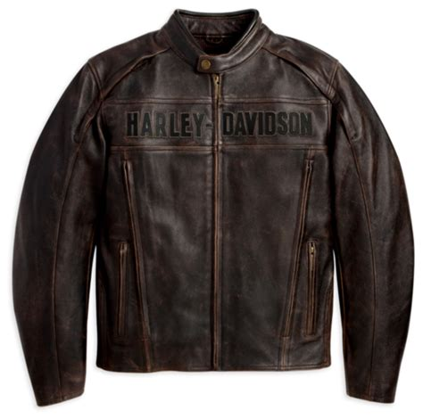 Harley Davidson Time Bry Leather harley davidson mens roadway leather jacket brown xl ebay
