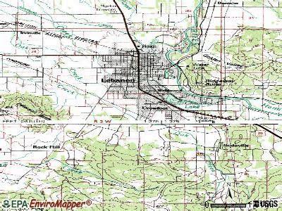 map of oregon lebanon map of lebanon oregon oregon map
