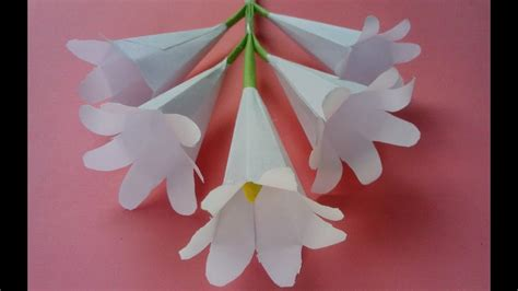 How To Make Paper Plants - how to make origami paper flowers flower with