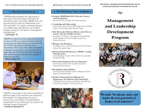 design management development programme management and leadership development program brochure