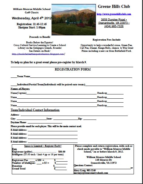Books Below The Equator 161 Leamos Golf Tournament Registration Free Golf Tournament Registration Form Template